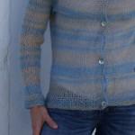 chaqueta mohair y lino